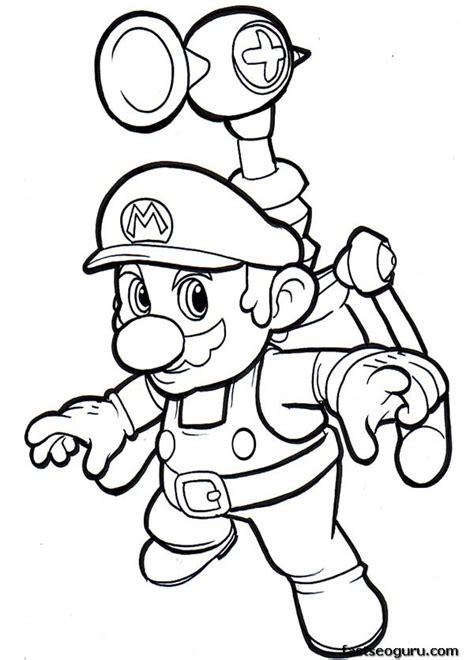 print out cartoon super mario world coloring pages