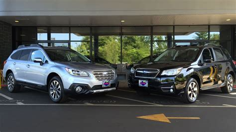 subaru outback 2018 vs 2017 2017 subaru forester vs 2017 subaru outback youtube
