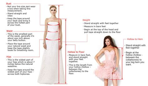 How To Measure Hollow To Floor Measurement For Dress by How To Offer Correct Measurements When Buying Prom