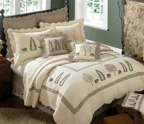 rustic bedding king size bear creek deluxe bed setblack forest decor