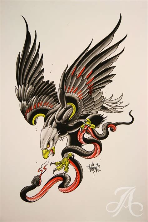 tattoo eagle snake meaning pinterest