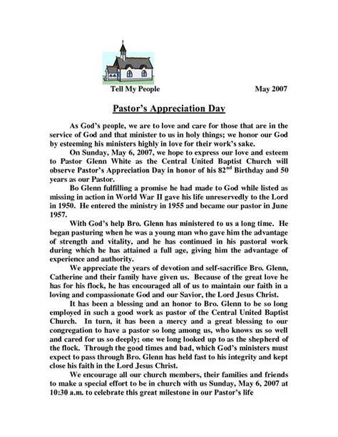 appreciation day letter to pastor appreciation letter template pastors appreciation