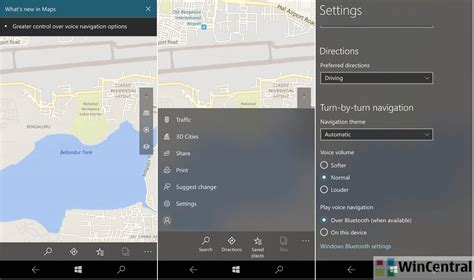 design apps for windows 10 windows 10 mobile maps app gets new voice navigation options more fluent design with