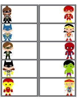 Best 25 Superhero Name Tags Ideas On Pinterest Superhero School Superhero Class And Captain Label Template