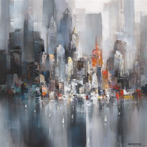 painting new artwork city moods iv 0031 wilfred lang
