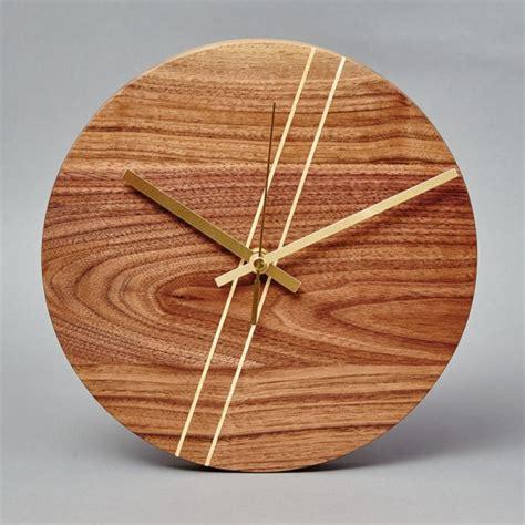 gold faced clock beveledge round wooden wall clock beveledge
