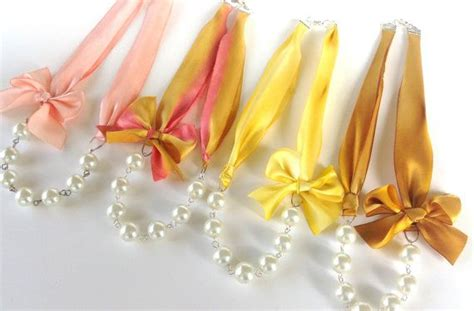 Fabworthy Yarborough Silk Satin Ribbon Jewelry by Pearl And Silk Ribbon Necklaces Style