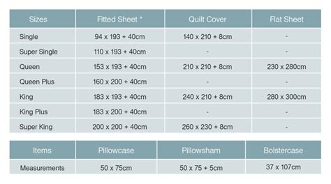 measurement of a bed bed sheet bedding sizes measurements