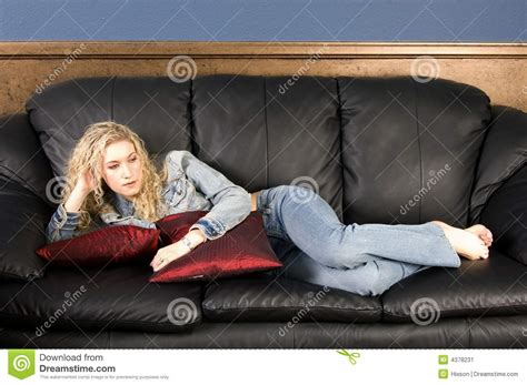 relaxing on the couch relaxing on couch stock image image 4378231