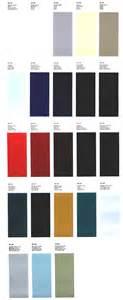 Alfa Romeo Colour Codes 1968 Alfa Romeo Color Chart