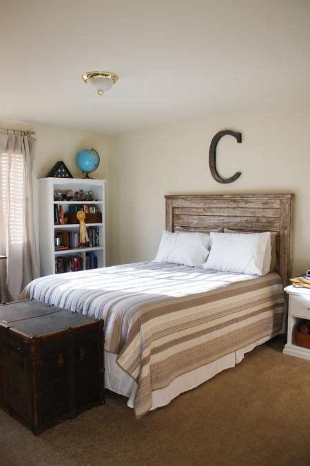 rustic white headboard rustic headboard ana white home kid s room