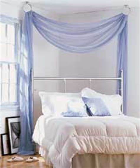 Hanging Canopy From Ceiling by How To Make A Hanging Bed Canopy Ehow Uk