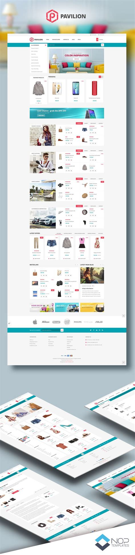 nopcommerce template 26 best nop templates theme collection images on