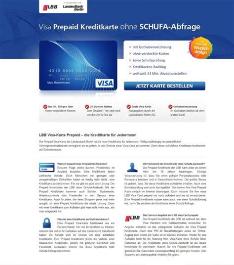 kreditkarte für arbeitslose lbb visa card prepaid im detail vorgestellt
