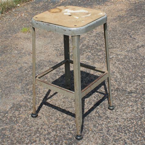 old metal bar stools 1 vintage industrial age metal bar stool ebay