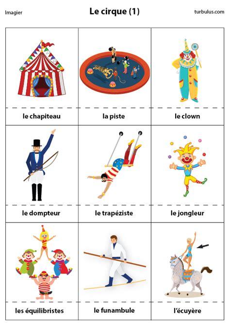 Imagier Le Cirque 2 Turbulus Jeux Pour Enfants