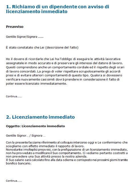 lettere di licenziamento modello lettera licenziamento firmakoek