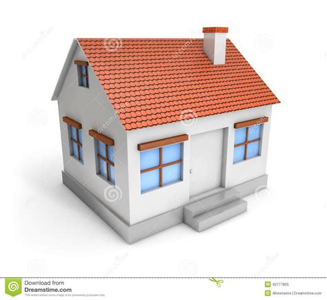 basic house 3d simple house stock illustration illustration of icon