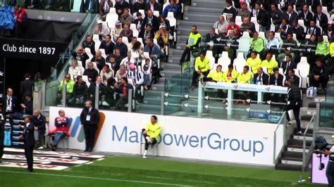 panchina juventus stadium addio di piero juve atalanta 13 05 2012 sostituzione