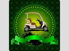 Golf club emblem with golf cart and green ribbon Vector ... Free Holiday Banner Clip Art