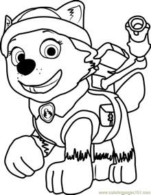 everest paw patrol coloring pages everest coloring page free paw patrol coloring pages