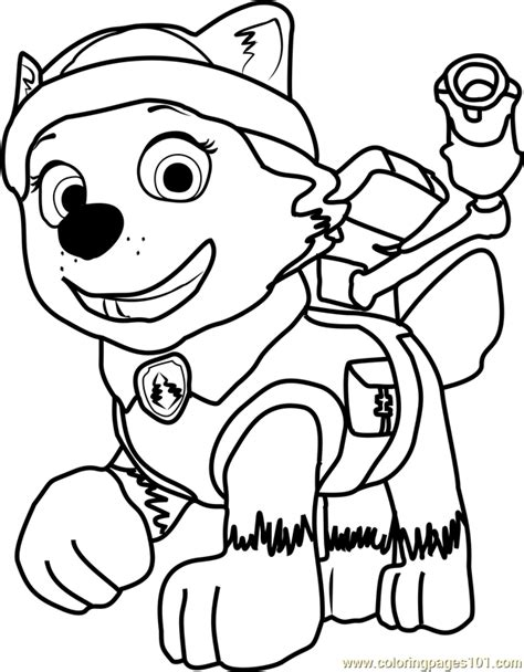 coloring page paw patrol everest everest coloring page free paw patrol coloring pages