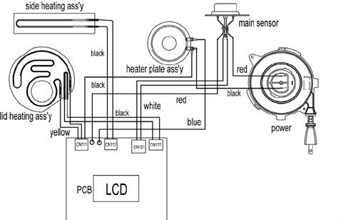 wiring diagram for aroma rice cooker wiring diagrams