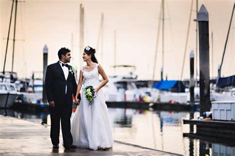 Selven & Sharon at Raffles Marina   Singapore Yacht Club