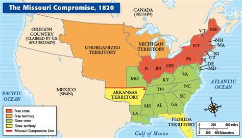 map of united states in 1820 what happened on october18th the dixon line if i