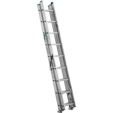 werner 24 ft aluminum 3 section compact extension ladder