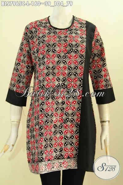 Atasan Batik Kombi 50 galeri model atasan batik kombinasi kain polos yang