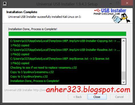 cara membuat usb boot linux cara membuat bootable kali linux dengan usb flashdisk