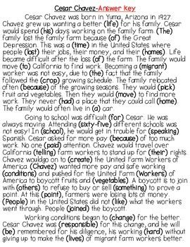 free printable maze reading passages cesar chavez differentiated reading fluency passages