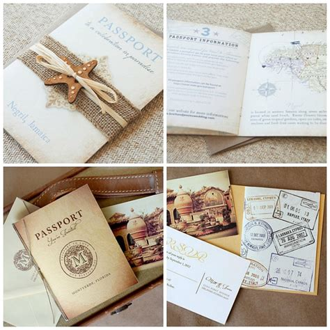 passport destination wedding invitations destination weddings