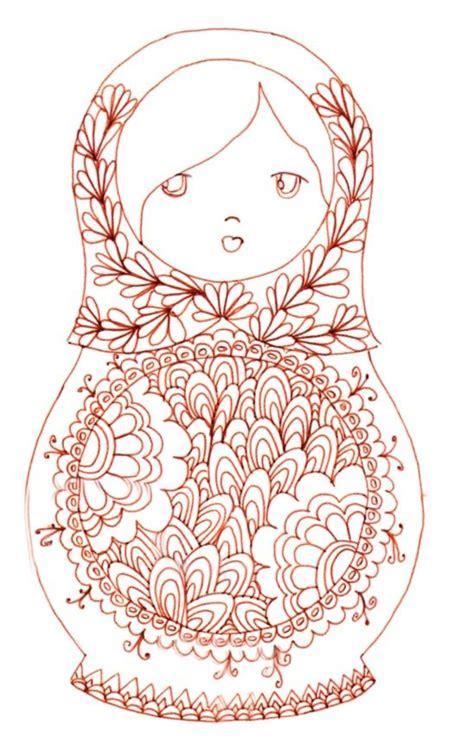 matryoshka pattern pinterest matryoshka coloriage this would make for an adorable