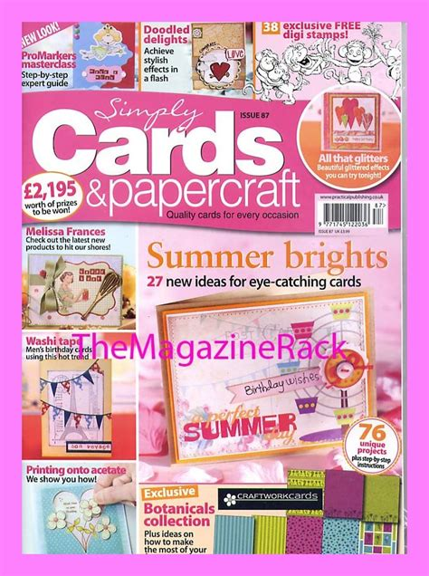 Paper Craft Magazines - simply cards papercraft magazine issue 87 2 free gifts