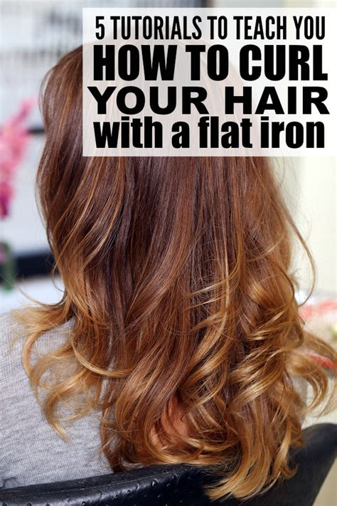 curling medium length hair with curling iron 5 tutorials to teach you how to curl your hair with a flat