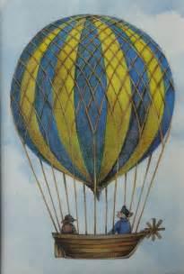 Vintage Air Balloon Decor by Vintage Air Balloon Print Steunk Balloon