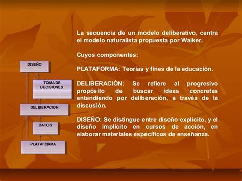 Modelo Curricular Naturalista Diapositivas Modelo De Deliberacion Curriculo