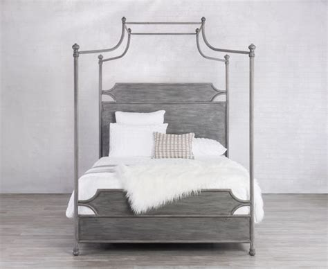 bedroom furniture lansing mi the lansing canopy iron bed with surround frame is spare