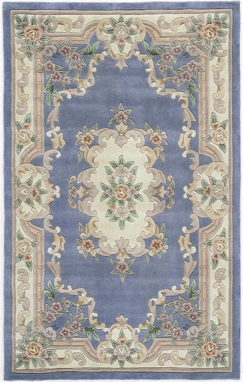 new aubusson rugs rugs america new aubusson 510 208 light blue