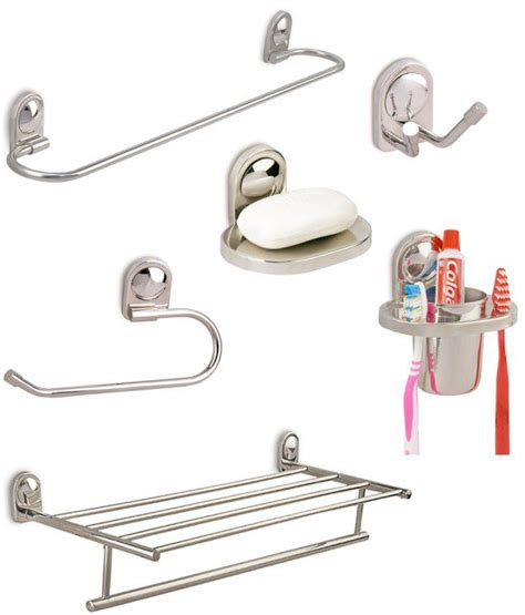 buy bathroom products online buy doyours combo of bathroom accessories set with towel