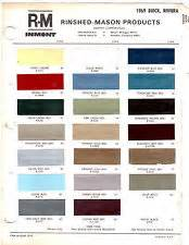 Buick Paint Codes 1969 Buick Riviera Color Chart Brochure Paint Chips 69 Ebay