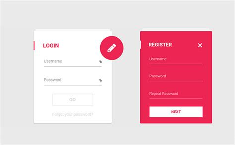 material design form html 35 free css3 html5 login form templates