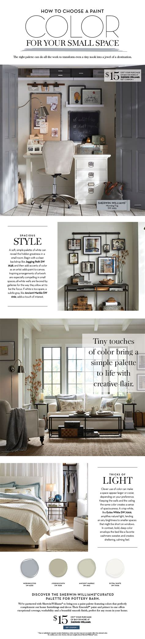 pottery barn small spaces choose a paint color for your small space pottery barn
