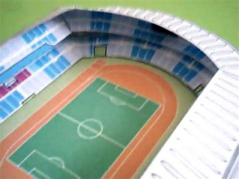 How To Make A Football Stadium Out Of Paper - nissan stadium yokohama paper model