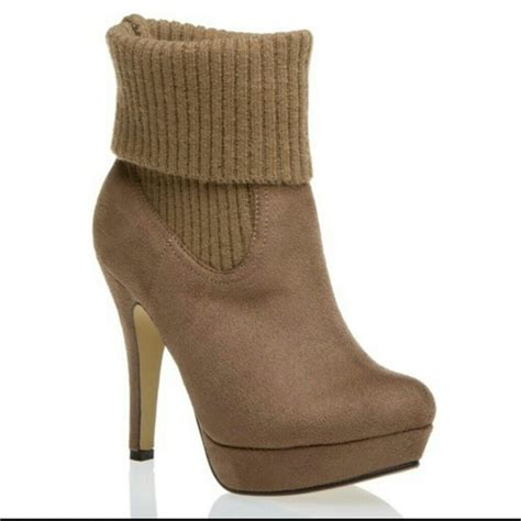 74 shoe dazzle shoes camel sweater boots from