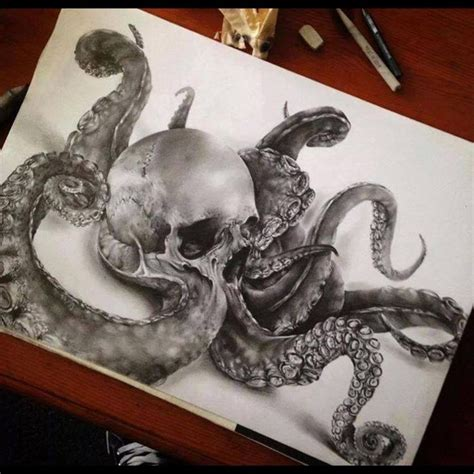 skull octopus tattoo 1000 ideas about octopus tattoos on octopus