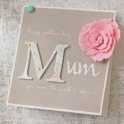 Mother S Day Cards by Personalised Felt Flower Mother S Day Card