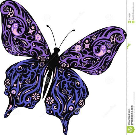 papillon avec un mod 232 le des lignes et fleurs une mite